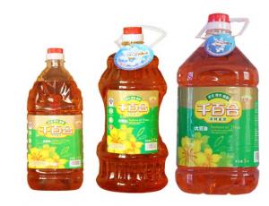 """""""千百合牌""""三级大豆油"""